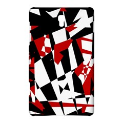 Red, Black And White Chaos Samsung Galaxy Tab S (8 4 ) Hardshell Case  by Valentinaart