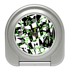 Black, White And Green Chaos Travel Alarm Clocks