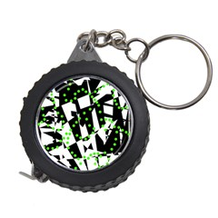 Black, White And Green Chaos Measuring Tapes by Valentinaart