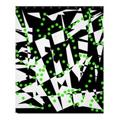 Black, White And Green Chaos Shower Curtain 60  X 72  (medium)  by Valentinaart