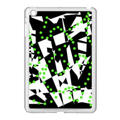 Black, White And Green Chaos Apple Ipad Mini Case (white) by Valentinaart