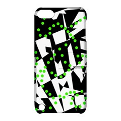 Black, White And Green Chaos Apple Ipod Touch 5 Hardshell Case With Stand by Valentinaart