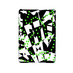 Black, White And Green Chaos Ipad Mini 2 Hardshell Cases by Valentinaart