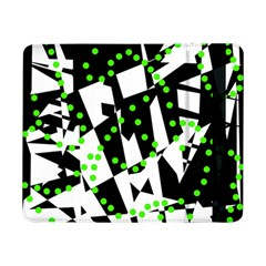 Black, White And Green Chaos Samsung Galaxy Tab Pro 8 4  Flip Case by Valentinaart