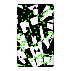 Black, White And Green Chaos Samsung Galaxy Tab S (8 4 ) Hardshell Case  by Valentinaart