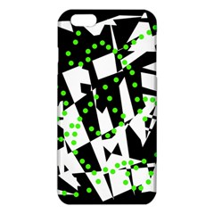 Black, White And Green Chaos Iphone 6 Plus/6s Plus Tpu Case by Valentinaart