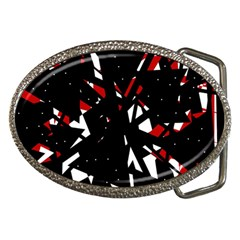 Black, Red And White Chaos Belt Buckles by Valentinaart