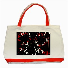Black, Red And White Chaos Classic Tote Bag (red) by Valentinaart
