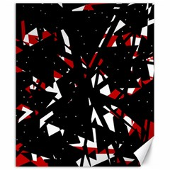 Black, Red And White Chaos Canvas 20  X 24   by Valentinaart