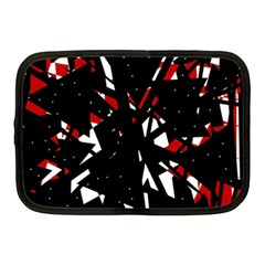 Black, Red And White Chaos Netbook Case (medium)  by Valentinaart
