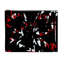 Black, Red And White Chaos Cosmetic Bag (xl) by Valentinaart