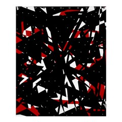 Black, Red And White Chaos Shower Curtain 60  X 72  (medium)  by Valentinaart