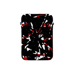 Black, Red And White Chaos Apple Ipad Mini Protective Soft Cases by Valentinaart