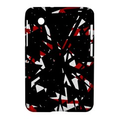 Black, Red And White Chaos Samsung Galaxy Tab 2 (7 ) P3100 Hardshell Case