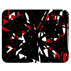 Black, Red And White Chaos Double Sided Flano Blanket (medium)  by Valentinaart