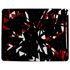 Black, Red And White Chaos Jigsaw Puzzle Photo Stand (rectangular) by Valentinaart