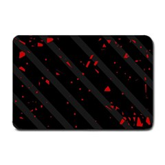 Black And Red Small Doormat