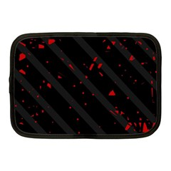 Black And Red Netbook Case (medium)  by Valentinaart