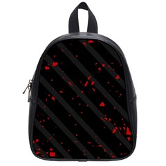 Black And Red School Bags (small)  by Valentinaart