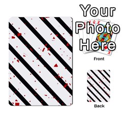 Elegant Black, Red And White Lines Multi Purpose Cards (rectangle)  by Valentinaart