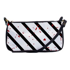 Elegant Black, Red And White Lines Shoulder Clutch Bags by Valentinaart