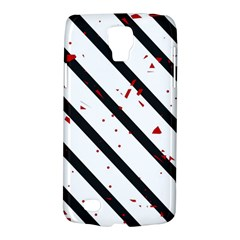 Elegant Black, Red And White Lines Galaxy S4 Active by Valentinaart