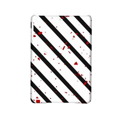 Elegant Black, Red And White Lines Ipad Mini 2 Hardshell Cases by Valentinaart