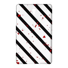 Elegant Black, Red And White Lines Samsung Galaxy Tab S (8 4 ) Hardshell Case  by Valentinaart
