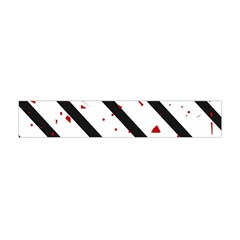Elegant Black, Red And White Lines Flano Scarf (mini) by Valentinaart