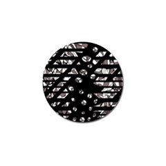 Gray Abstract Design Golf Ball Marker (4 Pack) by Valentinaart