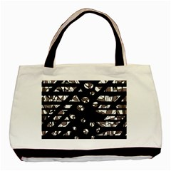 Gray Abstract Design Basic Tote Bag (two Sides) by Valentinaart