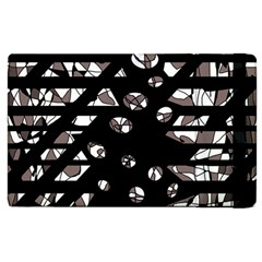 Gray Abstract Design Apple Ipad 2 Flip Case by Valentinaart