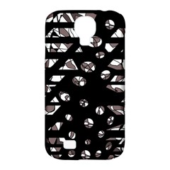 Gray Abstract Design Samsung Galaxy S4 Classic Hardshell Case (pc+silicone) by Valentinaart