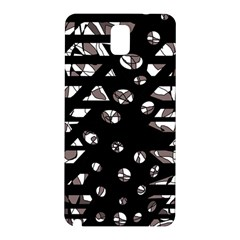 Gray Abstract Design Samsung Galaxy Note 3 N9005 Hardshell Back Case by Valentinaart