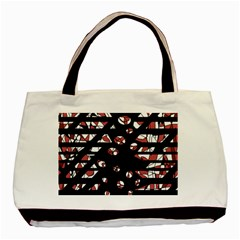 Red Freedam Basic Tote Bag by Valentinaart