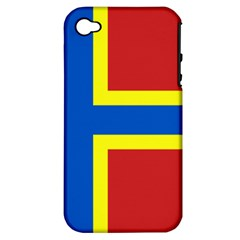 Flag Of Orkney Apple Iphone 4/4s Hardshell Case (pc+silicone) by abbeyz71