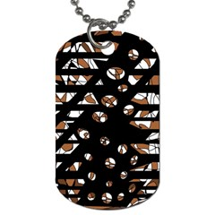 Brown Freedom  Dog Tag (one Side) by Valentinaart