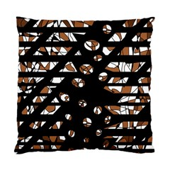 Brown Freedom  Standard Cushion Case (two Sides) by Valentinaart