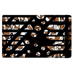 Brown Freedom  Apple Ipad 2 Flip Case by Valentinaart