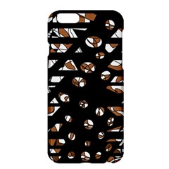 Brown Freedom  Apple Iphone 6 Plus/6s Plus Hardshell Case by Valentinaart
