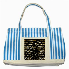 Green Freedom Striped Blue Tote Bag by Valentinaart