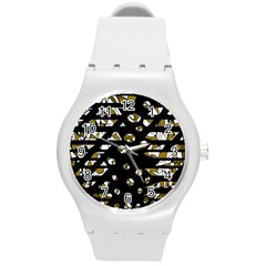 Green Freedom Round Plastic Sport Watch (m) by Valentinaart