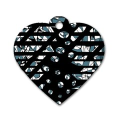 Blue Freedom Dog Tag Heart (one Side) by Valentinaart