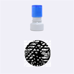 Blue Freedom Rubber Round Stamps (small) by Valentinaart