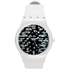 Blue Freedom Round Plastic Sport Watch (m) by Valentinaart