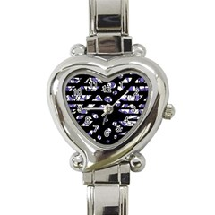 Purple Freedom Heart Italian Charm Watch by Valentinaart