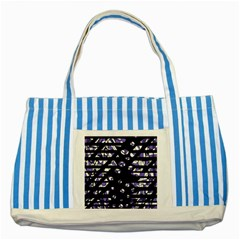 Purple Freedom Striped Blue Tote Bag by Valentinaart