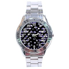 Purple Freedom Stainless Steel Analogue Watch by Valentinaart