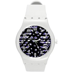 Purple Freedom Round Plastic Sport Watch (m) by Valentinaart