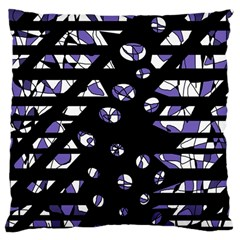 Purple Freedom Large Cushion Case (two Sides) by Valentinaart